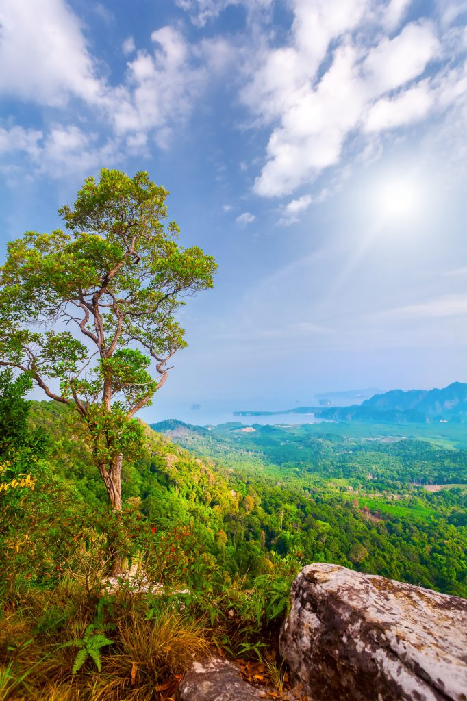 mountains and sunshine in Thailand